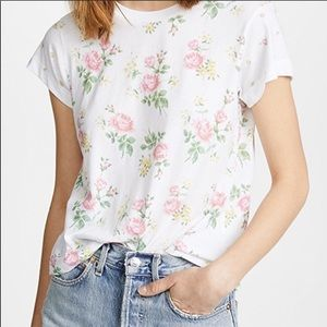 Wildfox No9 Patchwork Floral Tee NWT Small Top New